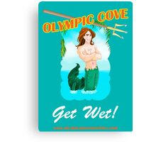 Olympic Cove - Get Wet! Canvas Print