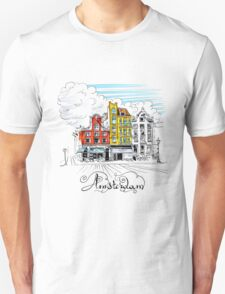 Amsterdam typical houses, Holland, Netherlands Unisex T-Shirt
