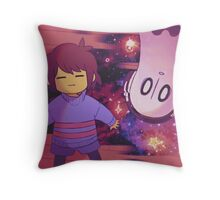 Undertale Frisk and Napstablook Throw Pillow