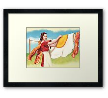 Peggy  Discovers Uppers Framed Print