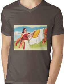 Peggy  Discovers Uppers Mens V-Neck T-Shirt