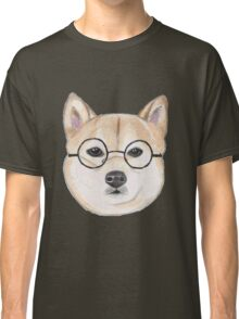 Shiba Inu With Round Glasses Classic T-Shirt