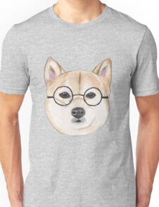 Shiba Inu With Round Glasses Unisex T-Shirt