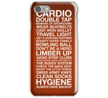 Zombieland — The Rules iPhone Case/Skin