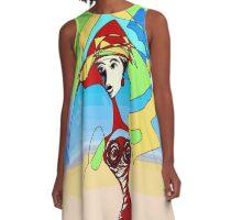 India Ink Sketch A-Line Dress