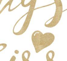 Hugs & Kisses - Gold Sticker