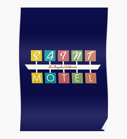 Retro Motel Sign Poster