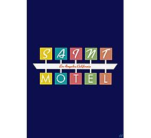 Retro Motel Sign Photographic Print