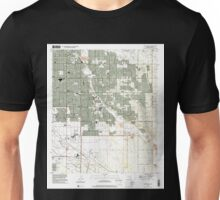 USGS TOPO Map Arizona AZ Tucson East 313827 1996 24000 Unisex T-Shirt