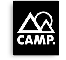 Camp T-Shirt, Happy Camper Love Camping Shirt Canvas Print