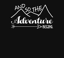 Camper Love Camping Gift, And So The Adventure Begin T-Shirt Unisex T-Shirt