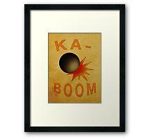 Ka-BOOM! Tristana Minimalist Framed Print