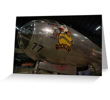 Block's Car the Second Atomic Bomber Greeting Card