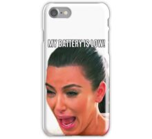 Kim crying low battery iPhone Case/Skin