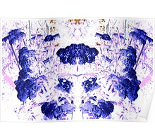 Summer Blooms Mirrored and Inverted Poster