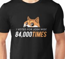 I voted for Josh Wise 84,000 times (Dogecoin) Unisex T-Shirt