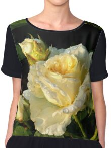 Yellow Rose of Rachis Chiffon Top