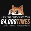I voted for Josh Wise 84,000 times and all I got was this lousy t-shirt (Dogecoin) by Tabner