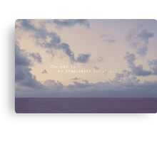 the sky is so tragically beautiful Canvas Print