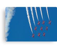 Diamond Nine Roll - The Red Arrows !! - Farnborough 2014 Canvas Print