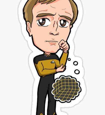 "Star Trek TNG - Lieutenant Reginald Barclay ""Reg"" ""Broccoli"" Sticker"