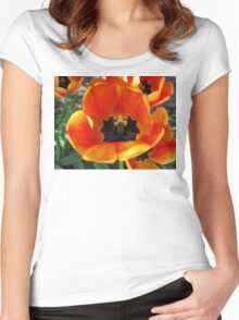 Abandoned Tulips Women's Fitted Scoop T-Shirt