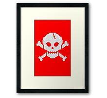 8 Bit Skull Framed Print