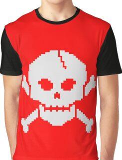 8 Bit Skull Graphic T-Shirt