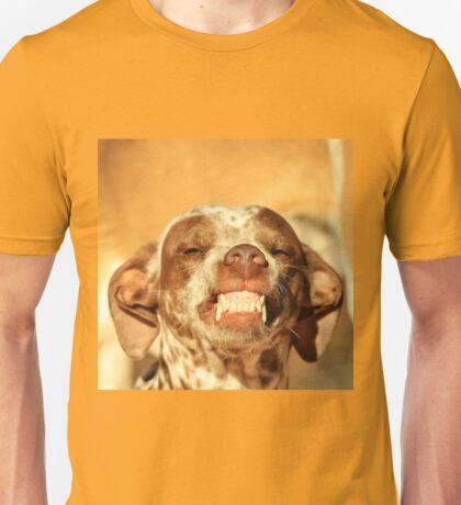 Smiling Dog - Funny Life and Honest Joy  Unisex T-Shirt