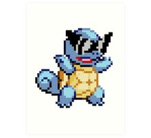 Ash's Squirtle Art Print