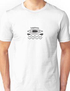 Kayaking is Happiness illustration  Unisex T-Shirt