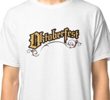 German Oktoberfest Logo Text on Black Background Classic T-Shirt