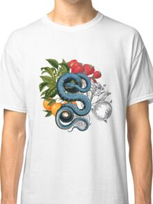 Antique Snake & Fruit Collage  Classic T-Shirt