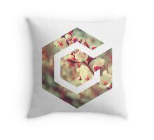 Gamecube Floral Throw Pillow