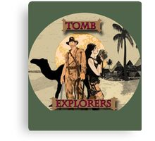 Tomb Explorers  Canvas Print