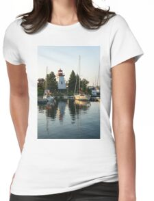 Picture Perfect - Little Lighthouse Framed by Yachts Womens Fitted T-Shirt