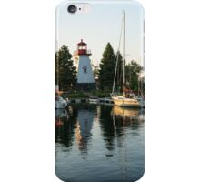 Picture Perfect - Little Lighthouse Framed by Yachts iPhone Case/Skin