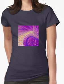 Blue Coin Abstract Womens Fitted T-Shirt