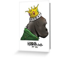 King Harambe (Gorillaz Style) Greeting Card