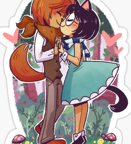 Kiss in the Forest Sticker