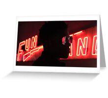 neon fun Greeting Card