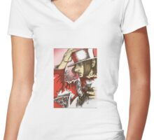 Pen and Ink Women's Fitted V-Neck T-Shirt