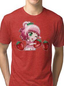 Strawberry chibi Tri-blend T-Shirt