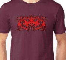 Celtic Dragons and Algiz Rune Unisex T-Shirt