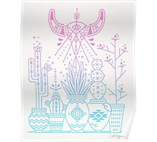 Santa Fe Garden – Rose Quartz & Serenity Poster