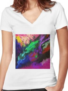 Protection from the Pacifist Women's Fitted V-Neck T-Shirt