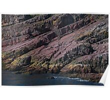 Colours and Textures at Bottom of Cliff Face, Bay Bulls, NL, Canada Poster