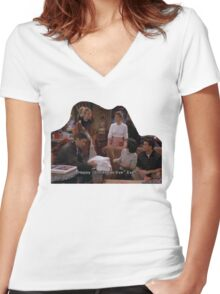 friends Women's Fitted V-Neck T-Shirt