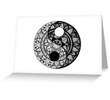 YinYang mandala Greeting Card