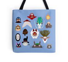 Many faces of Ghibli Tote Bag